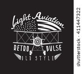 retro aviation vector design... | Shutterstock .eps vector #411447322