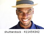 close up portrait of cheerful... | Shutterstock . vector #411454342