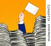 paperwork. businessman hand... | Shutterstock .eps vector #411459472