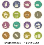 food and kitchen symbol for web ... | Shutterstock .eps vector #411459655