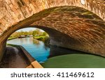 bridge at the canal   england.... | Shutterstock . vector #411469612