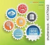 seo development design gear... | Shutterstock .eps vector #411470662