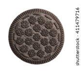 chocolate sandwich cookie top... | Shutterstock . vector #411479716