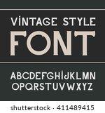 vector vintage font.  alcohol... | Shutterstock .eps vector #411489415
