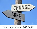 changes signpost | Shutterstock . vector #411492436
