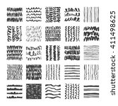 hand drawn textures  template . ... | Shutterstock .eps vector #411498625