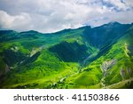green caucasus  mountain... | Shutterstock . vector #411503866