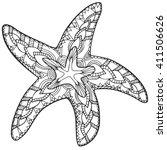 zentangle starfish. starfish... | Shutterstock .eps vector #411506626