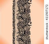 abstract seamless lace pattern... | Shutterstock .eps vector #411507172