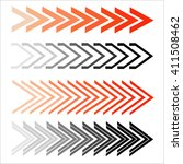 set of abstract arrows.  | Shutterstock .eps vector #411508462