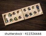 traditional mancala boardgame... | Shutterstock . vector #411526666