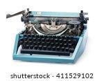 Retro Rusty Typewriter Isolate...