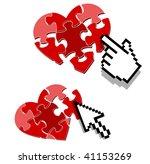 internet love search symbol | Shutterstock .eps vector #41153269