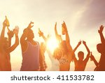summer beach party freedom... | Shutterstock . vector #411533782