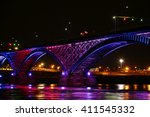 a view of the peace bridge u.s. ... | Shutterstock . vector #411545332