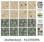 vector sand and dirt floor... | Shutterstock .eps vector #411550396
