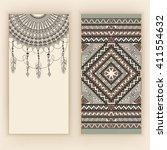 template for invitation card... | Shutterstock .eps vector #411554632