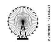 vector illustration. ferris... | Shutterstock .eps vector #411566395