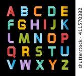 alphabet .paper ribbon alphabet.... | Shutterstock . vector #411570382