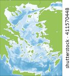 aegean sea map | Shutterstock .eps vector #411570448