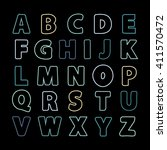 alphabet color line .alphabet . ... | Shutterstock . vector #411570472