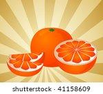 orange fruit  whole  halved ...   Shutterstock . vector #41158609