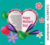 happy mother day background ... | Shutterstock .eps vector #411589372