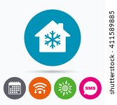 wifi  sms and calendar icons.... | Shutterstock . vector #411589885
