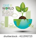 eco friendly design  | Shutterstock .eps vector #411590725
