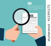 tax time design  | Shutterstock .eps vector #411591172