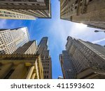 skyscrapers buildings in new... | Shutterstock . vector #411593602