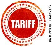 tariff  red grunge stamp on...