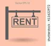 signboard rent vector... | Shutterstock .eps vector #411622972