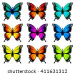 collection of colorful... | Shutterstock .eps vector #411631312