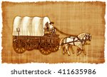 an old worn parchment featuring ...   Shutterstock . vector #411635986
