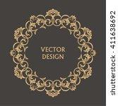 circular baroque pattern. round ... | Shutterstock .eps vector #411638692