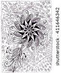 illustration hand drawn... | Shutterstock . vector #411646342