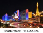 Stock photo blurred background of las vegas strip nevada usa 411656626