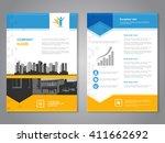 vector brochure with arrow... | Shutterstock .eps vector #411662692