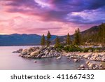 lake tahoe sunset | Shutterstock . vector #411667432