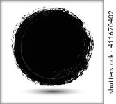 vector grunge circle. grunge... | Shutterstock .eps vector #411670402