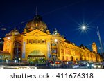Flinders St Station At Night