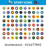 sport icon set with long shadow ...