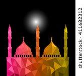 beautiful religious eid... | Shutterstock .eps vector #411682312