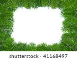 frame of pine boughs with the... | Shutterstock . vector #41168497