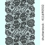 lace seamless pattern. | Shutterstock .eps vector #411690532