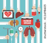 human organ for transplantation ... | Shutterstock .eps vector #411698605