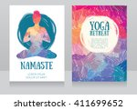 artistic cards template for... | Shutterstock .eps vector #411699652