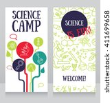 cards template for science camp ...   Shutterstock .eps vector #411699658