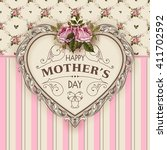 happy mothers day.  holiday... | Shutterstock .eps vector #411702592